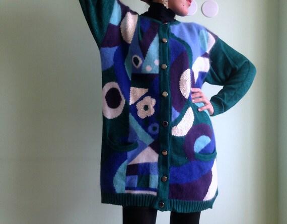 Betty Barclay Sequin Cardigan Blue Knit Throw Green Blazer  34532768faf18
