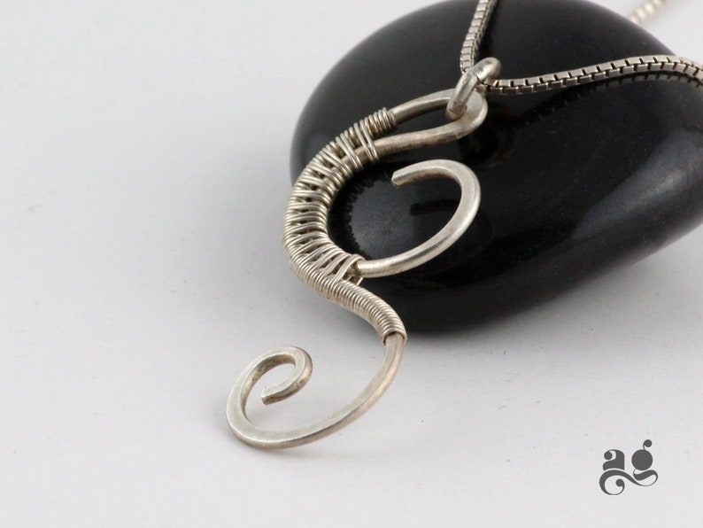Sterling 925 Silver Swirl Necklace for Her Pendant for Mom Anniversary Gift for Wife Unique Neck jewelry Handmade Valentines day gift