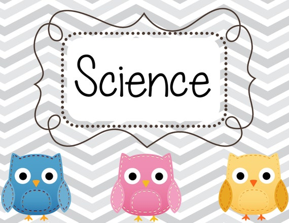 Science Tags: Items Similar To Chevron Owl Classroom Set