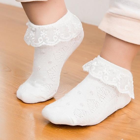 Girls Children Ankle Frilly Lace socks FlowerGirl Wedding Christening socks
