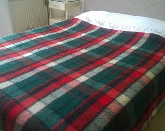Vintage Wolle Decke Vesta 186 225 Cm