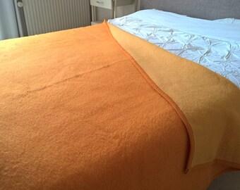 """Dutch vintage mid-centuries wool blanket Tetem  65"""" / 88,6"""" inch"""