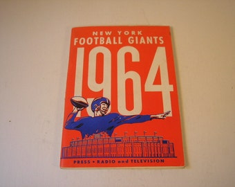 1964 New York Giants Football Media Press Guide
