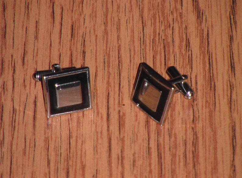 8 pairs Black and Silver Cufflinks
