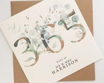 Husband 1st Anniversary Card, Wedding Anniversary Card for Husband, First Wedding Anniversary Card, Personalised Anniversary Card