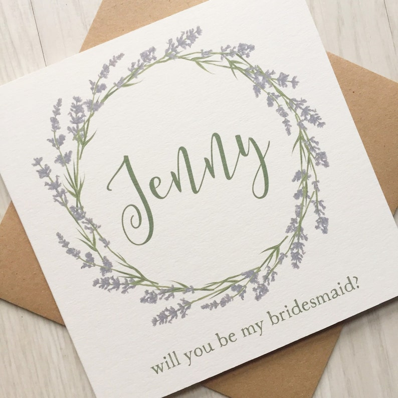 Flower girl card will you be my bridesmaid maid of honor image 0