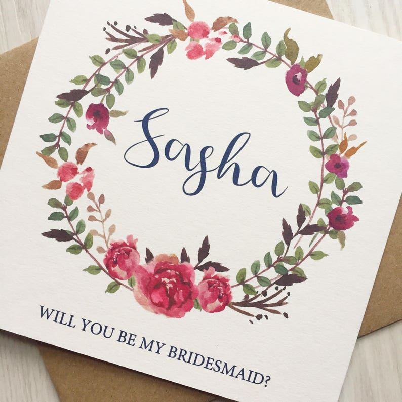 Will You Be My Bridesmaid Cards Will You Be My Maid of image 0