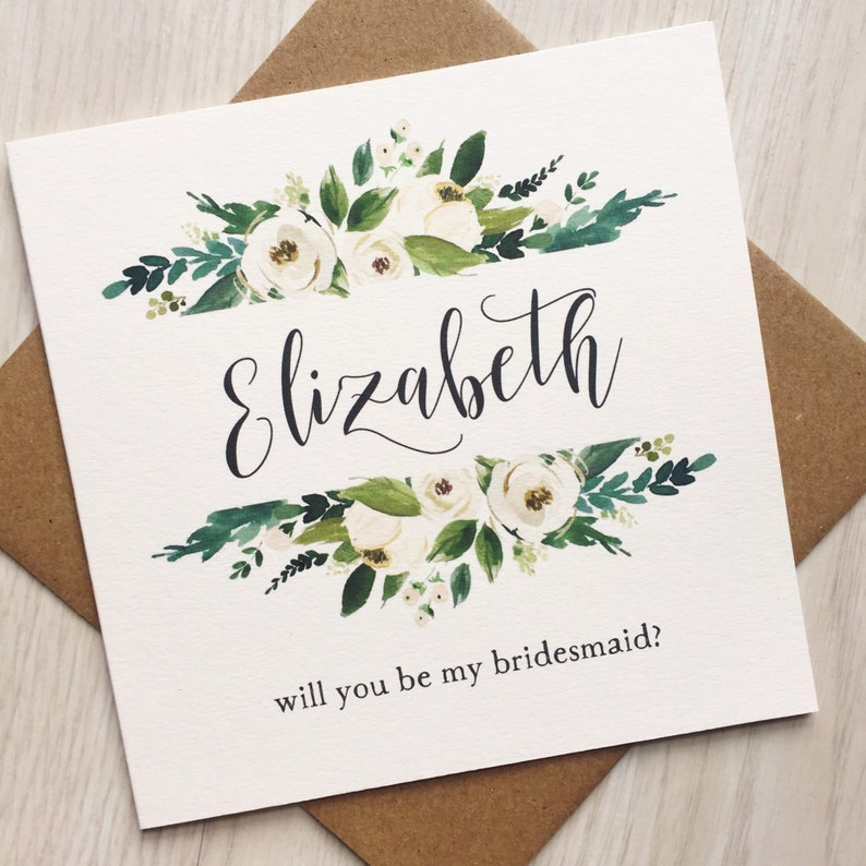 Bridesmaid proposal card for asking will you be my image 0