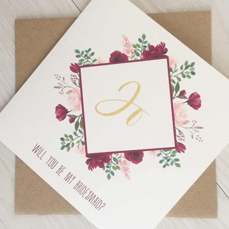 Will You Be My Bridesmaid Personalized Bridesmaid Proposal image 0