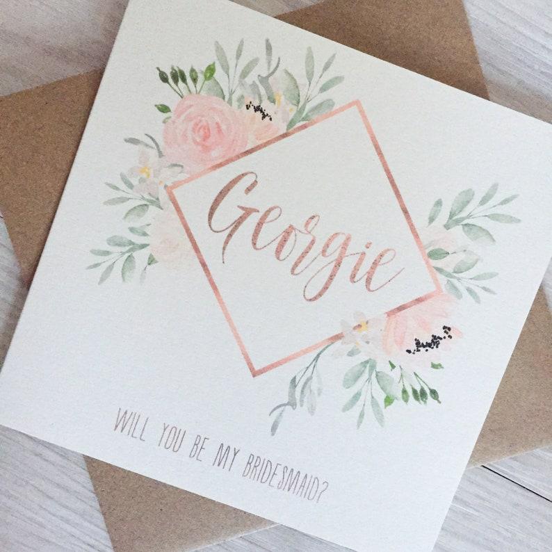 Will you be my bridesmaid card bridesmaid proposal card image 0