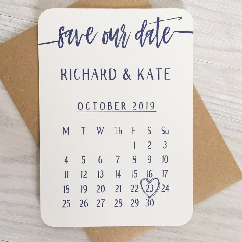 Wedding Save the Date Cards Navy Rustic Wedding Wedding image 0
