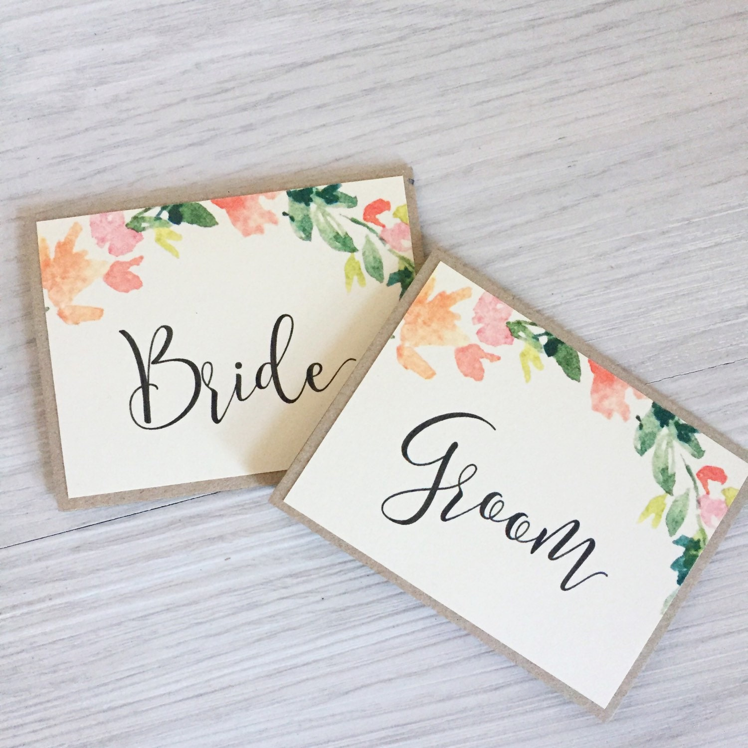 personalized name wedding place setting cardsescort cards