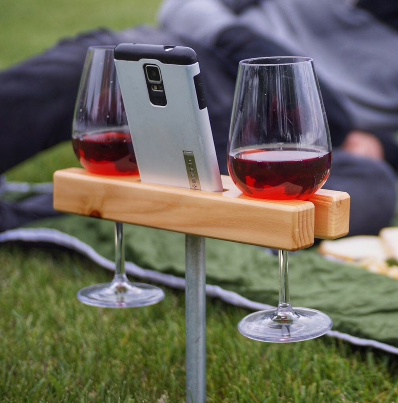 Wine Glass Holder Smartphone Dock/Speaker. Works w/ most image 0