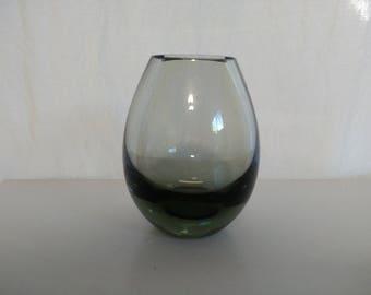 Vintage Per Lutken Holmegaard #15387 Glass Vase - Danish Modern