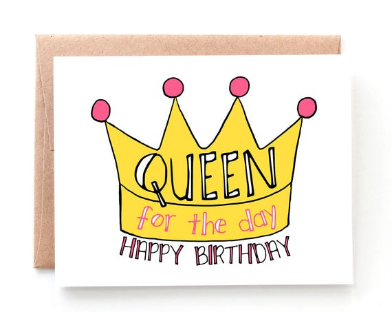 Queen for the Day, Birthday Card