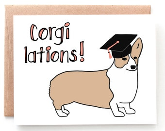 Corgi Lations, Graduation Card