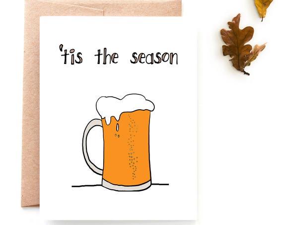 Pumpkin Beer, Fall Card