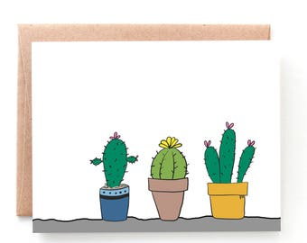 Cactus Plants Cards