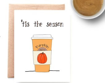Pumpkin Spice Autumn Card – Fall Stationery