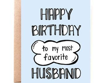 Favorite Husband Birthday