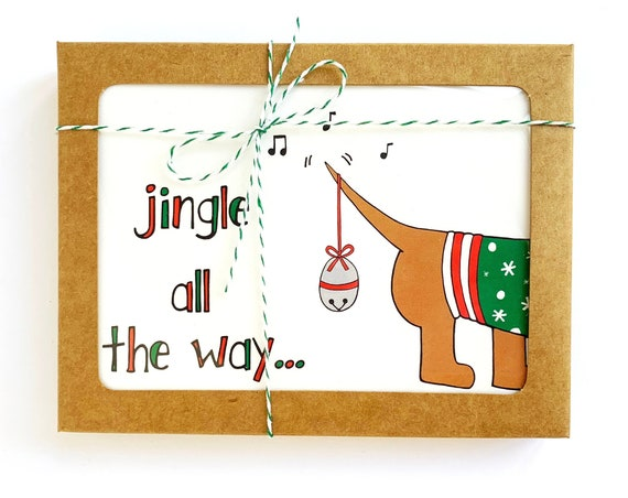 Jingle All The Way, Christmas Cards, Set of 8