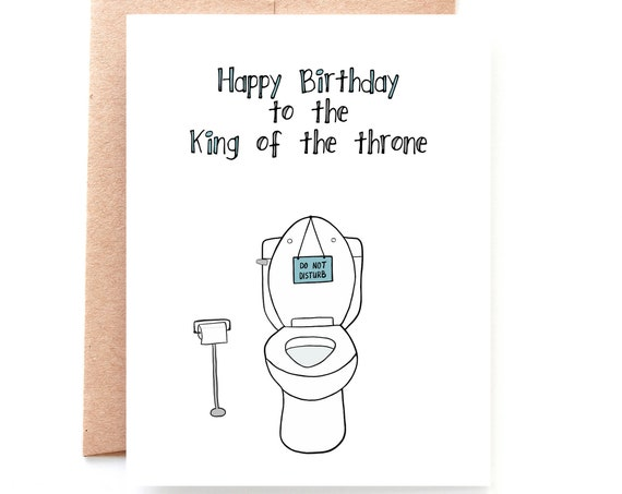 King of the Throne, Birthday Card For Dad