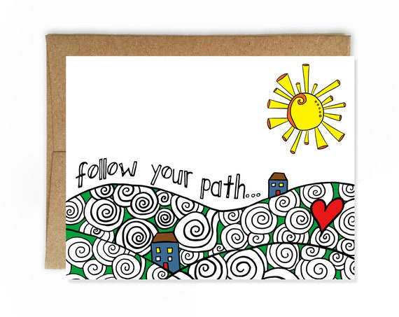 Follow Your Path, Graduation Card