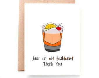 Old Fashioned Thank You Card