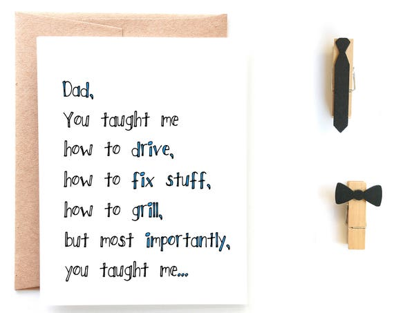 Just Like You, Father's Day Card