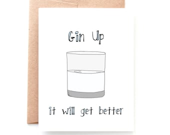 Gin Up, Sympathy Card