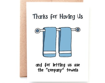 Company Towels, Thank You Card