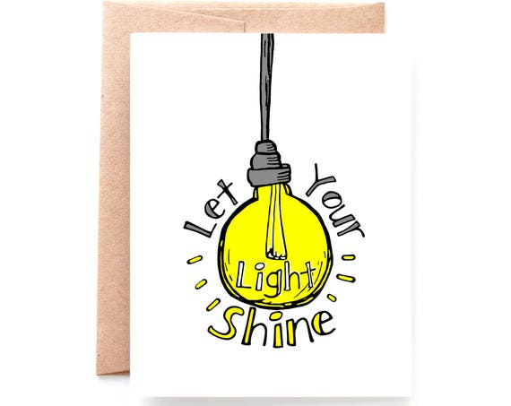 Let Your Light Shine Card