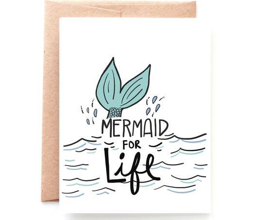 Mermaid For Life Card