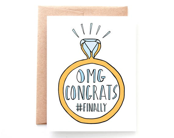 Finally Engaged, by Yellow Daisy Paper Co