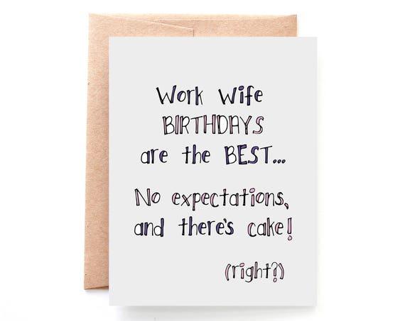 Work Wife Birthday Card