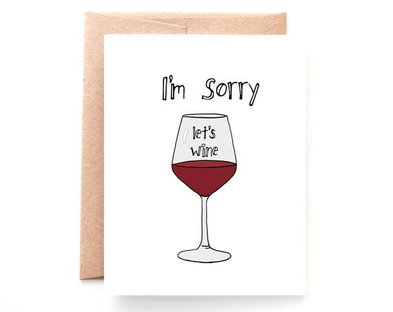 Sorry Lets Wine, Sympathy Card