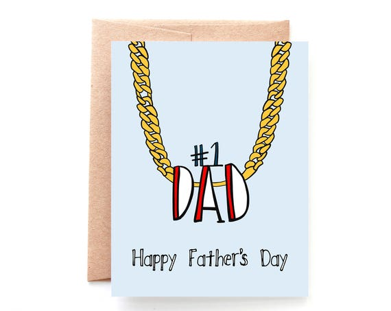 No 1 Dad, Father's Day Card