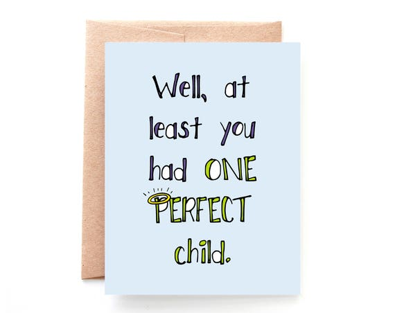 One Perfect Child, Mother's Day Card