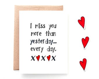 Miss You More Card