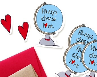 Choose Love Stickers Set