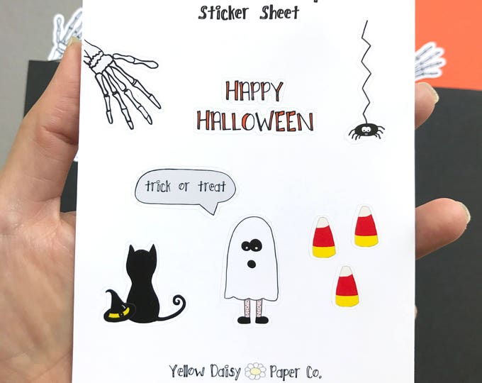 Halloween Creeper Sticker Set