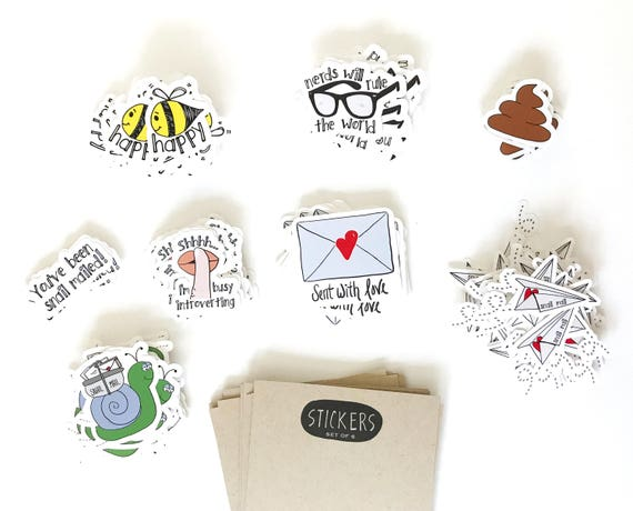 Surprise Sticker Pack - Set of 6 Stickers