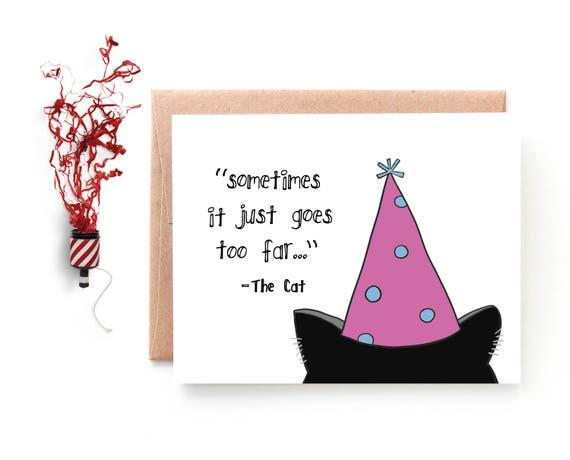 Birthday Card Cat Birthday Card Funny Birthday Card From Etsy