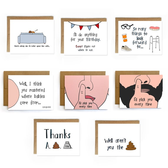 Wholesale Greeting Card Starter Pack Funny Birthday Cards Etsy
