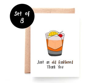 Old Fashioned Thank You Card Set of 8