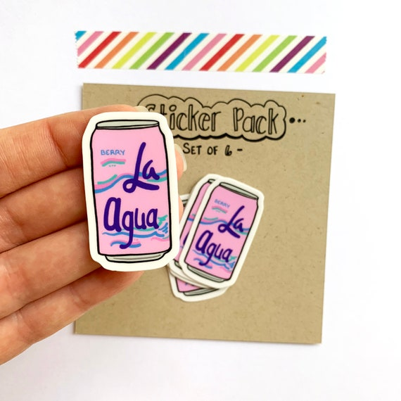 La Agua Vinyl Stickers, Set of 6
