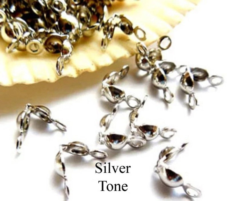 102050 Bead Tip Assorted Finish Knot Covers Jewelry Supplies BTAFKC8MM-00BD4-128