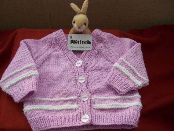 8a9dffe31dfa Knitted Baby Cardigan Hand Knitted Baby Cardigan Hand