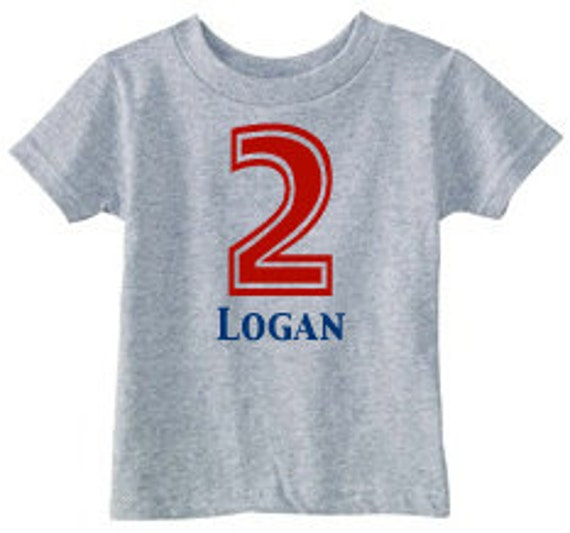 Number Shirt 2nd Birthday