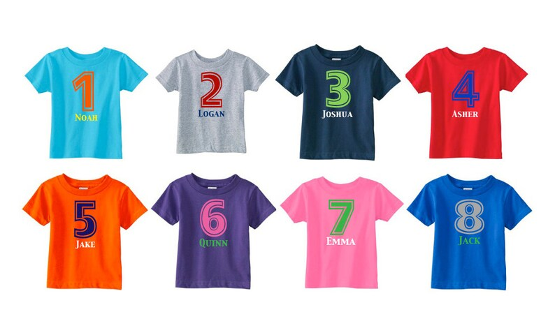 Number Shirt Birthday Personalized